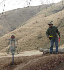 Dwight at the Disc Golf Course in Bakersfield